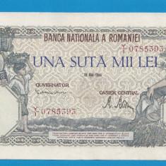 100000 lei 1946 28 Mai 19 aUNC - Bancnota romaneasca