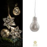 Corp iluminat argintat Big Pear Fan, Pendule