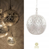 Corp iluminat argintat Ball Filigrain XL, Pendule