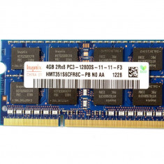 Memorie ram laptop Hynix 4GB PC3-12800 DDR3-1600MHz HMT451S6CFR8C-PB N0 1.5V