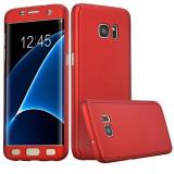Husa de protectie 360 slim, Mad, pentru Samsung Galaxy S7 Edge, Rosu