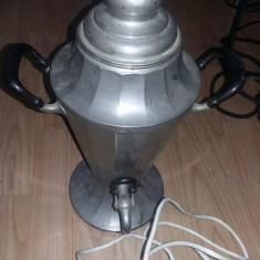 Samovar vechi, cafetiera electrica veche, ciainic vintage ceai, de colectie, T.Grat - Metal/Fonta