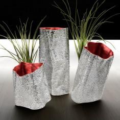 Vaza argintata Vesta - Vaza si suport flori