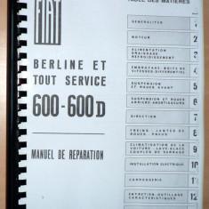 Manual de reparatii Fiat 600, 600 D - in Franceza - copie xerox - - Manual auto, Manual reparatie auto