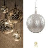 Corp iluminat argintat Ball Filigrain Medium, Pendule