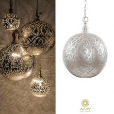 Corp iluminat argintat Ball Filigrain Medium - Corp de iluminat