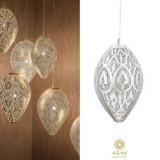 Corp iluminat argintat Romance Filigrain Small, Pendule