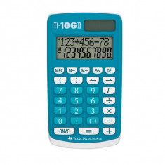 Calculator de birou Texas Instruments TI-106 II 10 cifre albastru