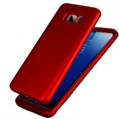 Husa de protectie 360 slim, Mad, pentru Samsung Galaxy S8, Rosu