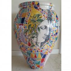 Vas deco ceramica mozaic H 70 cm