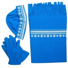 Set caciula+fular+manusi, Albastru, pentru femei - Caciula Dama