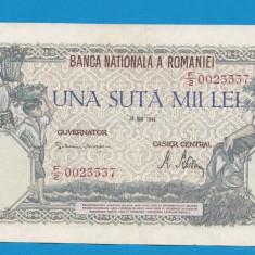 100000 lei 1946 28 Mai 15 aUNC - Bancnota romaneasca