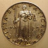 2.659 VATICAN PAPA PIUS XII JUSTITIA 5 LIRE 1953, Europa, Aluminiu