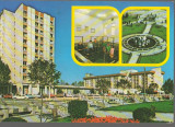 CPI (B8908) CARTE POSTALA - COVASNA, HOTEL: CERBUL, MOFETA, BALTA DRACULUI, Circulata, Fotografie