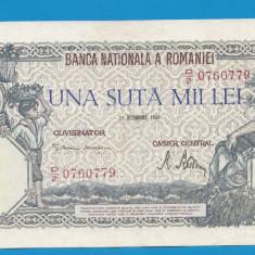 100000 lei 1946 21 Octombrie 19 aUNC - Bancnota romaneasca