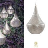 Corp iluminat argintat Bella Filigrain Small, Pendule