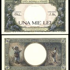 ROMANIA 1000 LEI 23 MARTIE 1943 UNC NECIRCULATA - Bancnota romaneasca