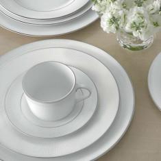 Set ceai 6 persoane Blanc sur Blanc