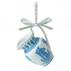 Decoratiune Carafa – Jasper albastru cu alb - Globuri brad