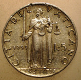 2.658 VATICAN PAPA PIUS XII JUSTITIA 5 LIRE 1953, Europa, Aluminiu