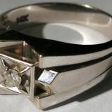21.Inel aur alb 6,6 grame 14 carate cu diamant