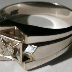 21.Inel aur alb 6, 6 grame 14 carate cu diamant - Inel diamant, Carataj aur: 14k