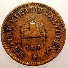 2.691 UNGARIA 2 FILLER 1910, Europa, Bronz