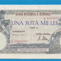 100000 lei 1946 21 Octombrie 18 aUNC - Bancnota romaneasca