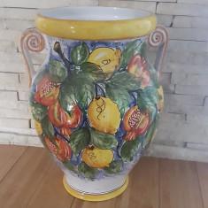 Vas deco ceramica lamai si rodii H 50 cm