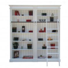 Biblioteca 2 corpuri, 5 rafturi si scara - Biblioteca living