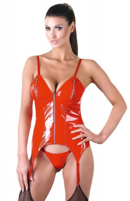 Latex Look Red Body Set foto