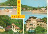 CPI (B8904) CARTE POSTALA - BAILE SACELU, VEDERE DIN STATIUNE, Circulata, Fotografie