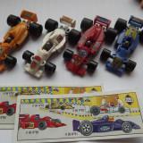 K137 Kinder set complet 4 masini Formula 1 cu 2 BPZ K96 N80 N81 N82 N83 - Surpriza Kinder