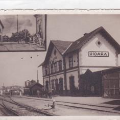 UIOARA.OCNA MURESULUI, JUD.ALBA, GARA NECIRCULAT. - Carte Postala Transilvania dupa 1918, Necirculata, Fotografie