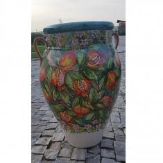 Vas deco ceramica cu rodii H 70 cm