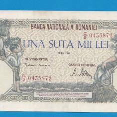 100000 lei 1946 28 Mai 18 aUNC - Bancnota romaneasca