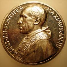 5.613 ITALIA VATICAN MEDALIE PAPA PIUS XII 1941 AN III ARGINT 38, 2g MISTRUZZI, Europa