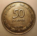 2.768 ISRAEL 50 PRUTA PRUTAH 1949, Asia, Cupru-Nichel