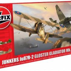Kit Constructie Airfix Set Junkers Ju87r-2 Si Gloster Gladiator - Set de constructie