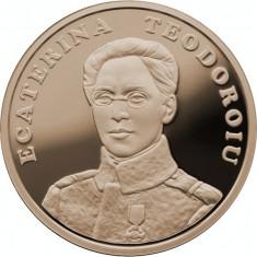 50 Bani 2017 PROOF - 100 de ani Ecaterina Teodoroiu Prima Femeie Ofiţer - Moneda Romania, Alama