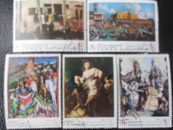 YEMEN KINGDOM-PICTURI MUZEE  VENETIA-STAMPILATE