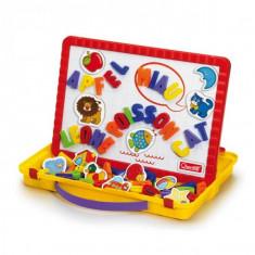 Joc Creativitate Quercetti Tablita Magnetica Litere Mari Si Imagini Magnetino 66 Piese - Jocuri arta si creatie