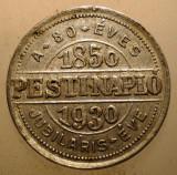 F.519 UNGARIA BUDAPESTA JETON JUBILIAR JURNAL ZIAR PESTI NAPLO 1850 1930 23mm