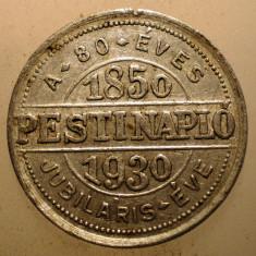 F.519 UNGARIA BUDAPESTA JETON JUBILIAR JURNAL ZIAR PESTI NAPLO 1850 1930 23mm - Jetoane numismatica