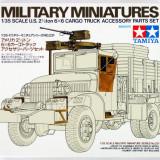 + Kit 1/35 Tamiya 35231  - US 2.5 Ton 6x6 Cargo Truck Accessory Set +