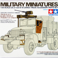 + Kit 1/35 Tamiya 35231 - US 2.5 Ton 6x6 Cargo Truck Accessory Set + - Macheta auto