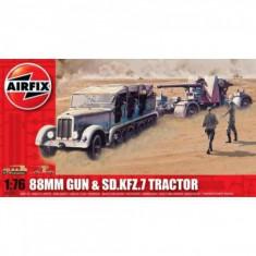 Kit Constructie Airfix Tun Antitanc 88Mm Gun Sd Kfz Tractor - Set de constructie