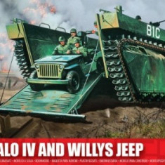 Kit Constructie Airfix Buffalo Iv Si Willys Jeep - Set de constructie