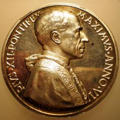 5.623 ITALIA VATICAN MEDALIE PAPA PIUS XII 1944 AN VI ARGINT 39, 5g MISTRUZZI, Europa