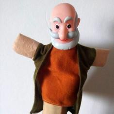 Marioneta papusa manuala teatru papusi, cap cauciuc corp textil, batran, bunic - Jocuri arta si creatie